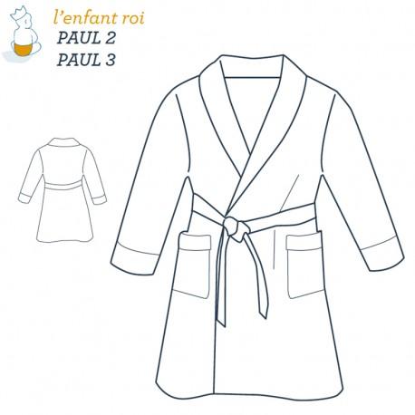 Patron l'Enfant Roi Robe de chambre Paul - de 2 ans à 12 ans