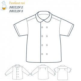 Patron l'Enfant Roi Chemise Paulin - de 2 ans à 12 ans