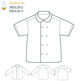 Paulin Shirt L'Enfant Roi sewing pattern - From 2 to 12 years old
