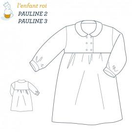 Patron l'Enfant Roi Robe de chambre Pauline - de 2 ans à 12 ans