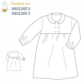 Pauline Dressing gown L'Enfant Roi sewing pattern - From 2 to 12 years old