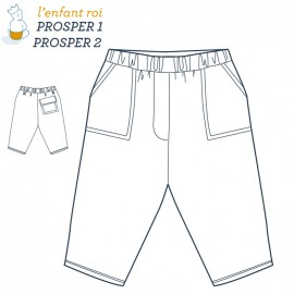 Prosper trousers  L'Enfant Roi sewing pattern - From 3 months to 6 years old