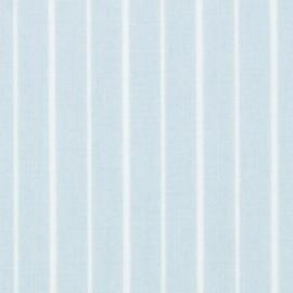 Tissu coton DMC Petites rayures - bleu x 10cm