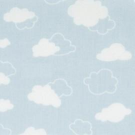 Tissu coton DMC Joli nuage - bleu x 10cm