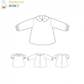 Rose Blouse L'Enfant Roi sewing pattern 1 - From 1 month to 2 years old