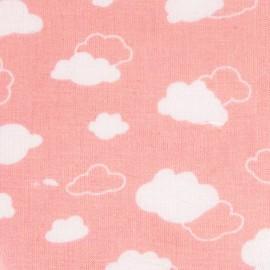 Tissu coton DMC Joli nuage - rose x 10cm