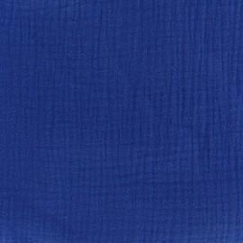 Tissu double gaze de coton MPM - bleu amiral x 10cm