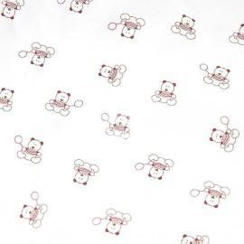 Tissu coton DMC Teddydou - ours x 10cm