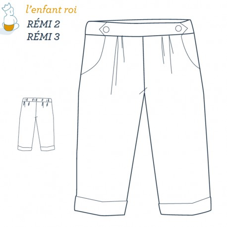 Rémi Corsair L'Enfant Roi sewing pattern - From 2 to 12 years old