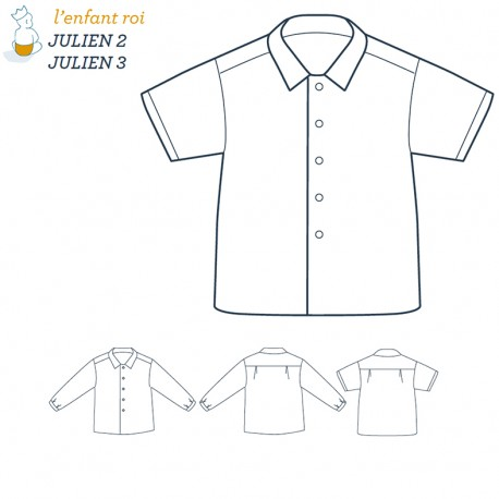 Julien Shirt L'Enfant Roi sewing pattern - From 2 to 12 years old