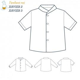 Patron l'Enfant Roi Chemise Xavier - de 2 ans à 12 ans