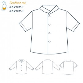 Xavier Shirt L'Enfant Roi sewing pattern - From 2 to 12 years old