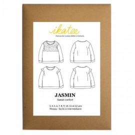 Sewing pattern Ikatee Jasmin Sweat confort  : from 3 to 12 years old