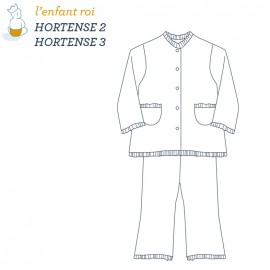 Hortense Pajamas L'Enfant Roi sewing pattern - From 2 to 12 years old