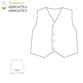 Hippolyte Vest L'Enfant Roi sewing pattern - From 2 to 12 years old