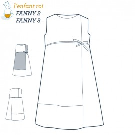 Fanny Dress L'Enfant Roi sewing pattern - From 2 to 12 years old