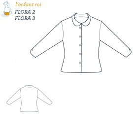 Flora Blouse L'Enfant Roi sewing pattern - From 2 to 12 years old