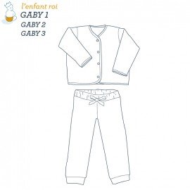 Gaby Cardigan L'Enfant Roi sewing pattern - From 1 month of 14 years old