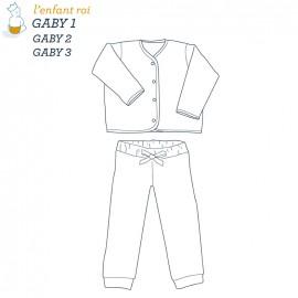 Patron l'Enfant Roi Cardigan Gaby - de 1 mois à 14 ans