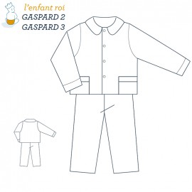 Gaspard Pajama L'Enfant Roi sewing pattern - From 2 to 12 years old