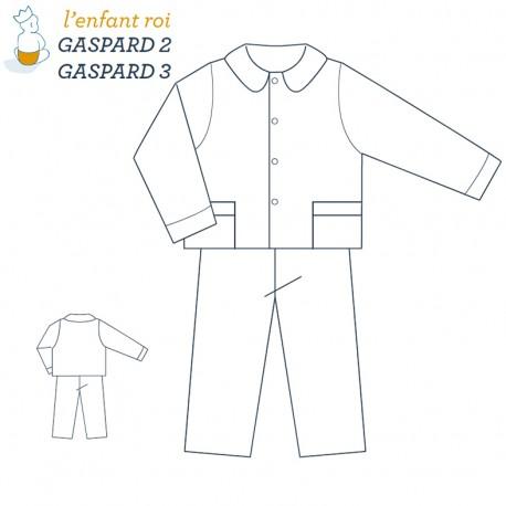 Patron l'Enfant Roi Veste de pyjama Gaspard - de 2 ans à 12 ans