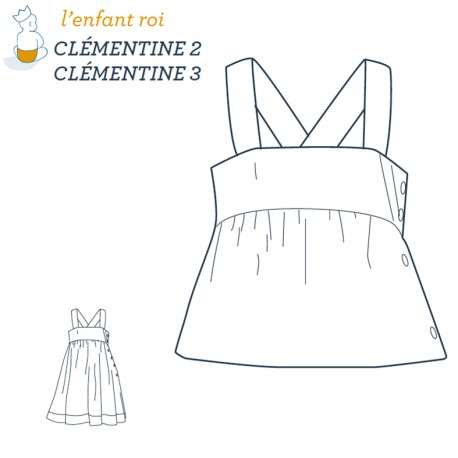 Clémentine Dress/Strapless  L'Enfant Roi sewing pattern - From 2 to 12 years old