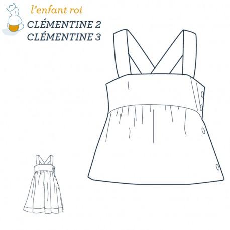 Patron l'Enfant Roi Robe/Bustier Clémentine - de 2 ans à 12 ans
