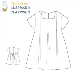 Clarisse DressL'Enfant Roi sewing pattern - From 2 to 12 years old