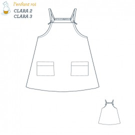 Clara Dress L'Enfant Roi sewing pattern - From 2 to 12 years old