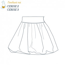 Cerise skirt L'Enfant Roi sewing pattern - From 2 to 12 years old