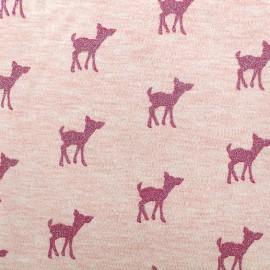 Tissu sweat léger Bambi Glitter - fuchsia/rose x 10cm