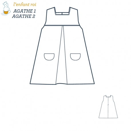 Agathe Dress L'Enfant Roi sewing pattern - From 3 months to 10 years old