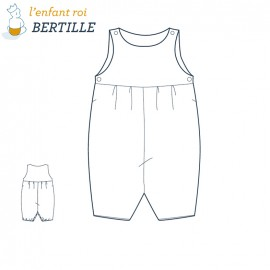 Bertille Overalls  L'Enfant Roi sewing pattern - From 3 to 18 months old