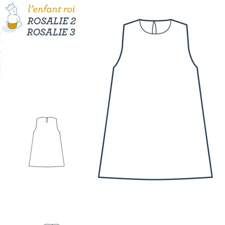 Rosalie Dress L'Enfant Roi sewing pattern - From 12 months to 12 years old