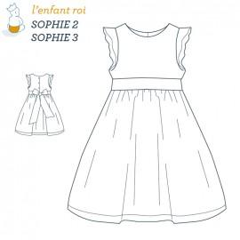 Patron l'Enfant Roi Robe Sophie - de 2 ans à 12 ans