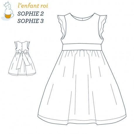 2b0b99eb3c9b5 Patron l Enfant Roi Robe Sophie - de 2 ans à 12 ans