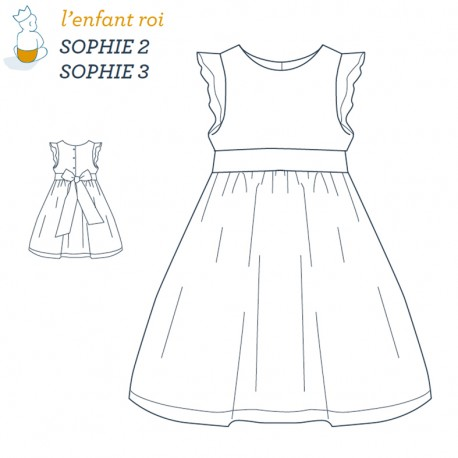 Sophie Dress L'Enfant Roi sewing pattern - From 2 to 12 years old