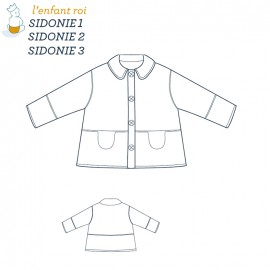 Sidonie Jacket L'Enfant Roi sewing pattern - From 3 months to 12 years old