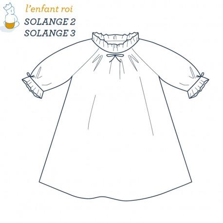 Patron l'Enfant Roi Chemise de nuit Solange - de 2 à 12 ans