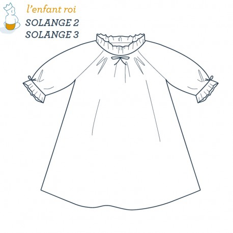Solange Nightdress L'Enfant Roi sewing pattern - From 2 to 12 years old