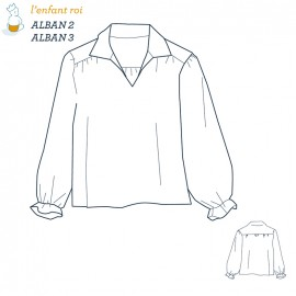 Alban Shirt L'Enfant Roi sewing pattern - From 2 to 12 years old