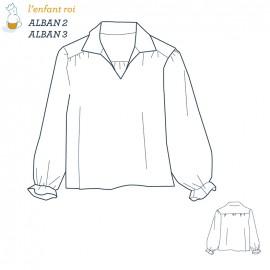 Patron l'Enfant Roi Chemise Alban - de 2 ans à 12 ans