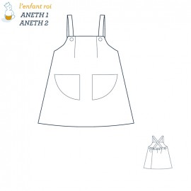 Aneth Dress L'Enfant Roi sewing pattern - From 3 months to 6 years old
