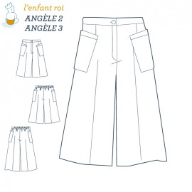 Angèle trousers L'Enfant Roi sewing pattern - From 2 to 12 years old