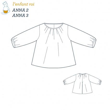 Patron l'Enfant Roi Blouse Anna - de 2 ans à 12 ans