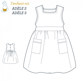 Adèle Dress L'Enfant Roi sewing pattern - From 2 to 12 years old