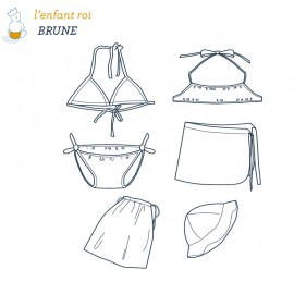 Brune Swimsuit L'Enfant Roi sewing pattern - From 12 months to 12 years old