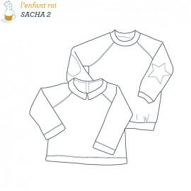 Patron l'Enfant Roi Sweat shirt Sacha - de 2 ans à 14 ans