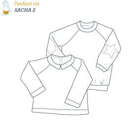 Sacha Sweat Shirt L'Enfant Roi sewing pattern - From 2 to 6 years old