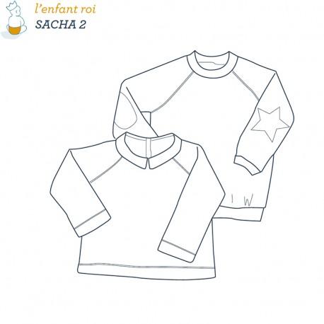 Patron l'Enfant Roi Sweat shirt Sacha - de 2 ans 6 ans